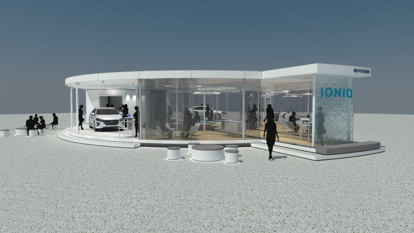 Der IONIQ-Info-Pavillon in Frankfurt